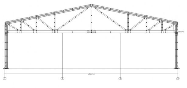 Проект производственного здания 900 кв.м. (м2)