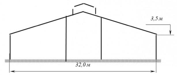 Проект металлического коровника на 400 голов