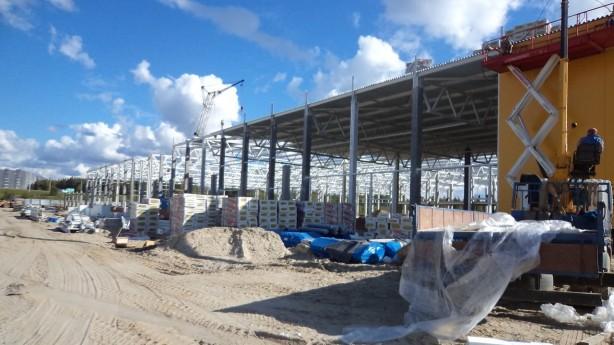 Строительство гипермаркета из металлоконструкций (ЛСТК)