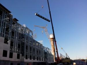 Строительство жилого здания из металлоконструкций