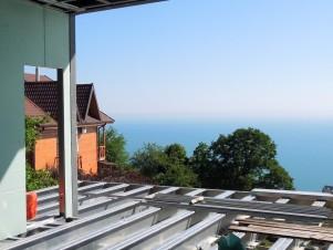 Строительство жилого дома в Сочи - вид на море
