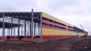 Быстровозводимое здание завода из металлоконструкций