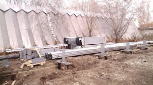 Свайный фундамент для складского комплекса